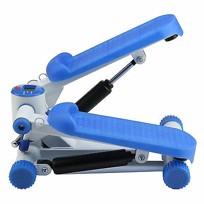 Mini Stepper Machine With Resistance Bands Exercise Gym Aerobic Workout Machine