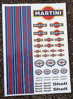 RC Martini Stickers Decals Mardave Kyosho Tamiya HPI