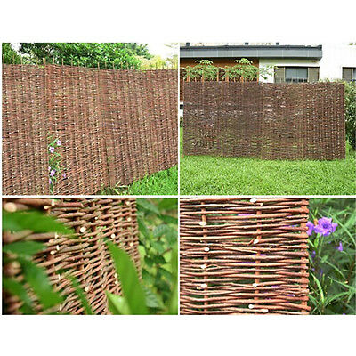 4Ft*6Ft Woven Wooden Willow Hurdle Fence Panel Natural Garden Fencing Screening