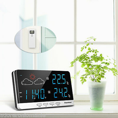Color Weather Station Forecaster Temperature Sensor exterior Wireless ES STOCK