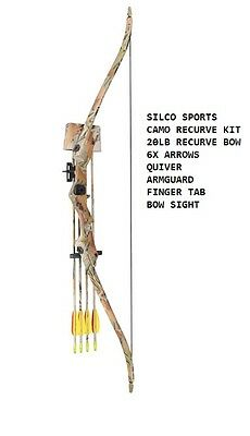Archery Camo FAMILY / YOUTH Recurve Bow Set 20Lbs with 5 x Arrows & Accessories