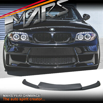 MARS Lip Spoiler for BMW 1-Series E81 E82 E87 E88 1M Style Front Bumper bar