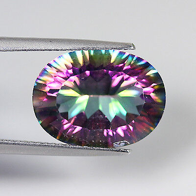 8.87 Ct Natural Brazil Rainbow Color MYSTIC QUAERTZ Oval Gemstone