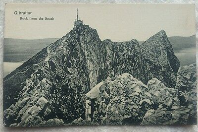 Vintage Gibraltar rock from the south postcard by Cumbo
