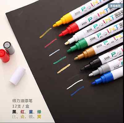 DELI 2.5mm Middle Point Paint Waterproof Marker Pen for Scrapbook Deco Card