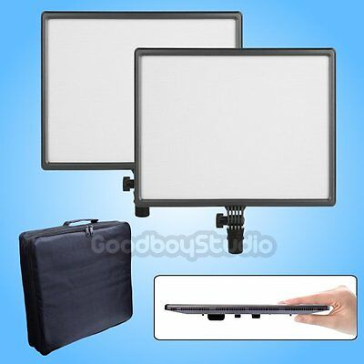 2X CN-Luxpad43 Ultra Slim 1412LM 3200K-5600K Studio Video LED Light Panel w/ Bag