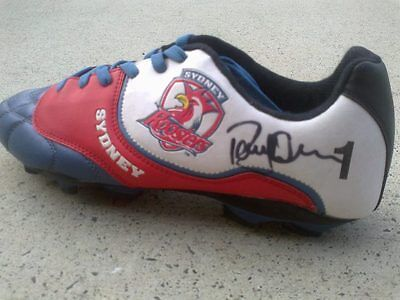 1 x SIGNED - Sydney Roosters NRL rugby league boot