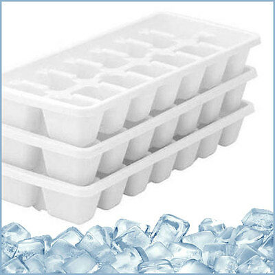 3 Pack  Plastic Ice Cube Maker Tray Ice Tray Total 36 Cubes Pack Of 3