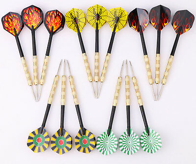 6 pcs (2 sets) of Steel Tip Brass Darts 22g Dart Aluminium Shafts Free Shipping