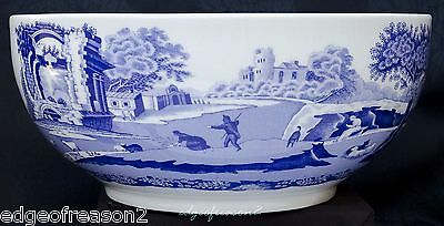 Spode Blue Italian Large Fruit Salad Serving  Bowl Dish