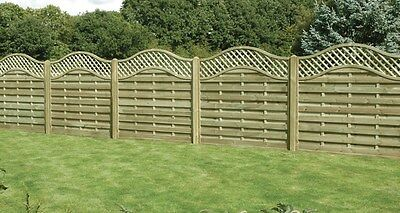 European Fence Panels Omega (Pack of 5) (Various Sizes available) FREE DELIVERY