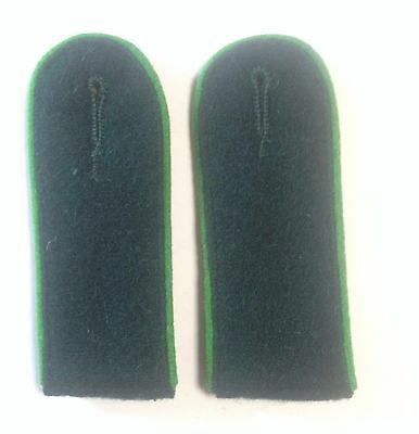 German Army Green Piped Shoulder Boards Green Underlay