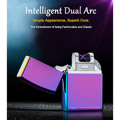 Electric Charging Lighter JL217 Cross Double Arc Pulse USB Charging Lighter