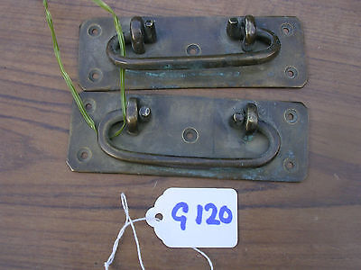 Pair Of Antique Brass Box Handles