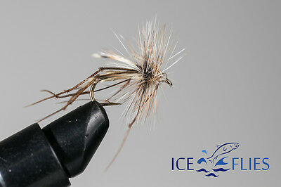 ICE FLIES, Dry Fly. Daddy long legs.  Size 12 - 20 (4 pack)