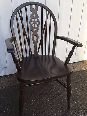 Pair Of Vintage Windsor Arm Chair Thames Valley Wheel Back Carver • £90.00