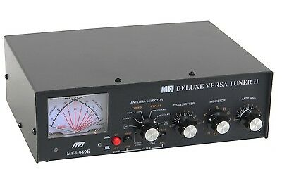MFJ-949E 1.8 - 30MHz 300W Antenna Tuner with Cross Needle and Dummy Load