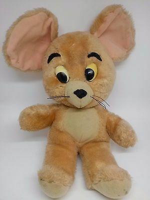 JERRY MOUSE Vintage Knickerbocker 1976 Tom And Jerry Plush Stuffed Animals Doll