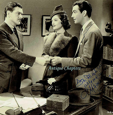 Myrna Loy Autograph Hand Signed MGM Publicity Photograph Lucky Night 9915