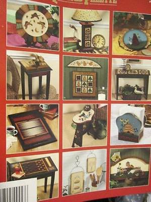 Quilted Palette Painting Book-Beck-Rooster/Bee Hive Garden Scene/Cat/Bird/Cat An