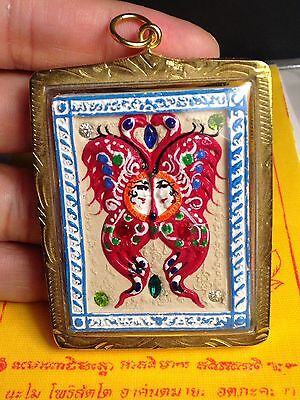 Thai Amulet - King Butterfly /Pra Prom With Takruts , Gems For Love & Richest