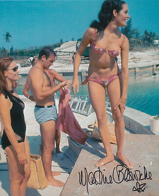 Martine Beswick In Person Signed Photo - A1245 - James Bond