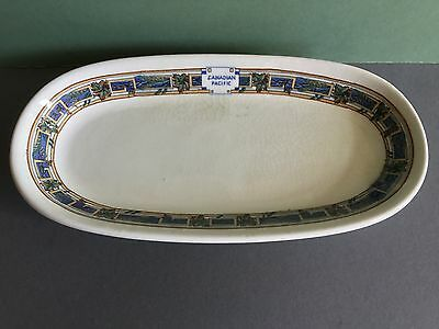 Canadian Pacific Railway Blue Maple Leaf Dish