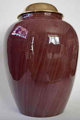 Adult Cremation Urn for Ashes - Stunning Burgundy Brush Effect Design