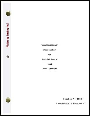 Ghostbusters - THE MOVIE SCRIPT / SCREENPLAY