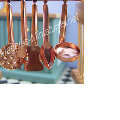 Dolls house 12th scale Copper Cooking Tools