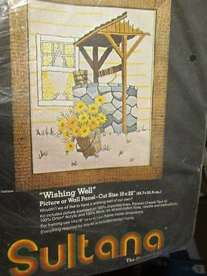 Sultana Wishing Well Crewel Embroidery Kit -18x22 Inches/45.7x55.9 cm #32104