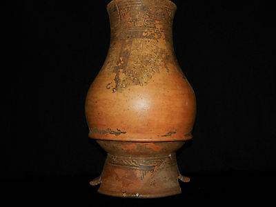 Pre-Columbian Pedestal Urn, Chimney Pot,Polychrome, Nicoya, Very Large