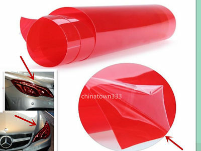 "12"" x 48"" Vinyl Film Tint Cool Car Headlight Taillight Fog Wrap Cover Bright Red"