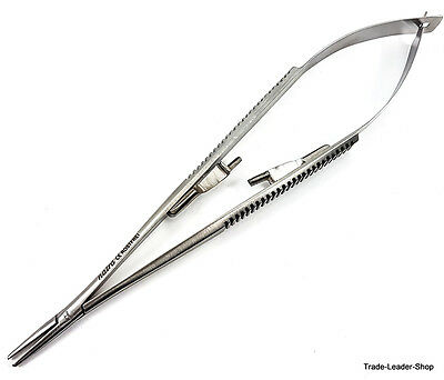 "Castroviejo Needle holder 18 cm 7"" straight lock dental surgical suture NATRA"