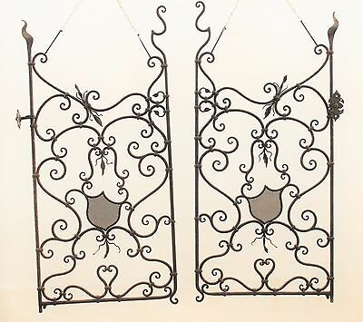 Spanish Revival Wrought Iron Gate 1920s