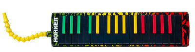 New Hohner Melodica Airboard Rasta Tri-color Padded Gig Bag with Strap 32 Key