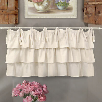 Mantovana Shabby Chic con balze Etoile Basic Collection 130 x 60  cm Colore Off