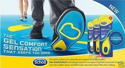 NEW! Scholl Active Everyday Gel Insoles for Men UK Size 8-13 Women UK Size 5-8