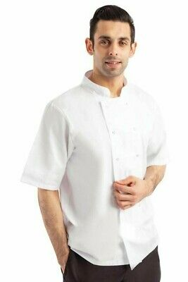 Whites Boston Chefs Jacket Short Sleeve Professional Kitchen Uniform Unisex