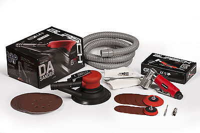 "Air Palm DA Orbital Sander 150MM 6"" & Mini DA Action Air Sander - 75mm Burisch"