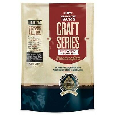 Mangrove Jack's Craft Series Chocolate Brown Ale Pouch No.5 - 2.5kg - Home Brew