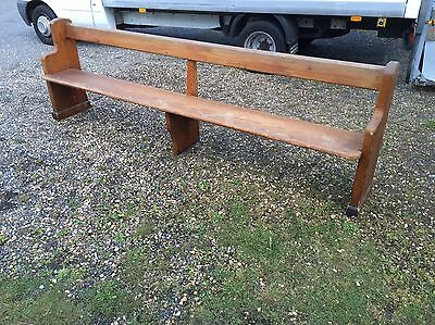 Antique Pitch Pine Church Pew Bench Settle - FREE DELIVERY
