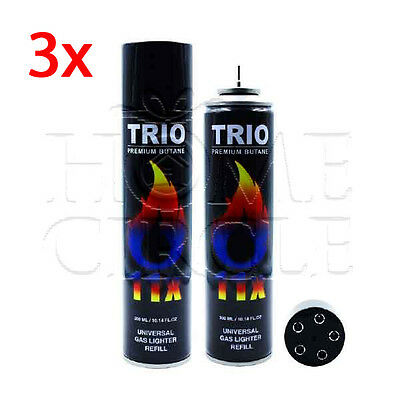 3x 11 Refined  Butane Universal Gas Refill Jet Blowtorch Lighter Fuel 300ML