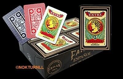 Barajas Naipe Espanola MARCA FAISN 100% Plastic Spanish Playing Cards FAISAN