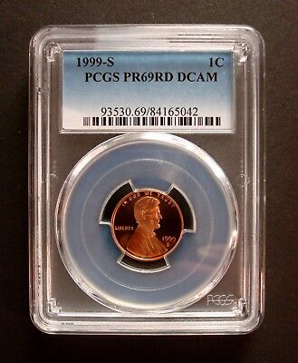"1999-S Proof Lincoln Cent Pcgs Proof-69 Deep Cameo ""Scratch Free Holder"""