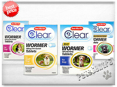 Bob Martin Clear Wormer Tablets For Dogs and Puppies Worming Treatment, Granules