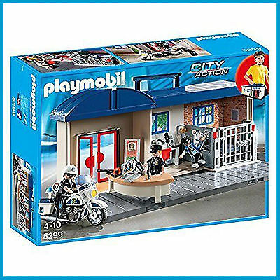 New Playmobil City Action Take Along Police Station In A Case 5299