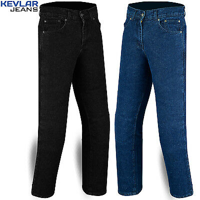 """Mens Motorcycle Stretch Jeans with Protective Kevlar Lining size 30"""" to 42"""""""