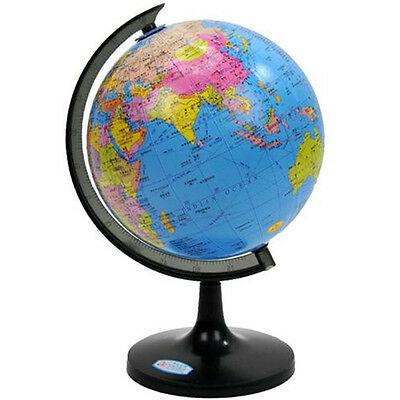 10cm World Globe Country Map Sphere Tellurion Swivel Stand Geography Educational