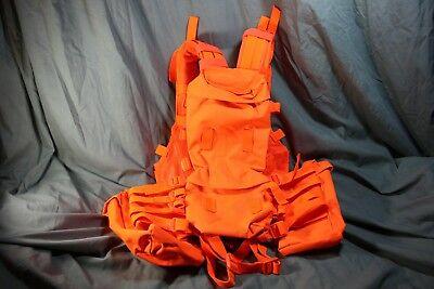 Blaze Orange Hunting Vest/ South African/ Rhodesian Style Police Tactical Vest